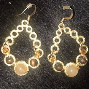 Gold & beaded earrings